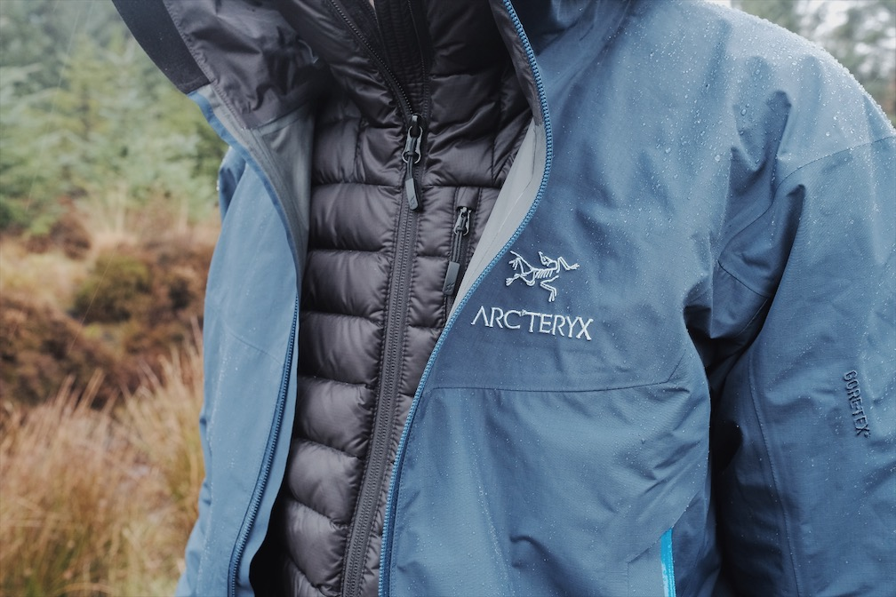 Arcteryx Beta SL with Rab Microlight