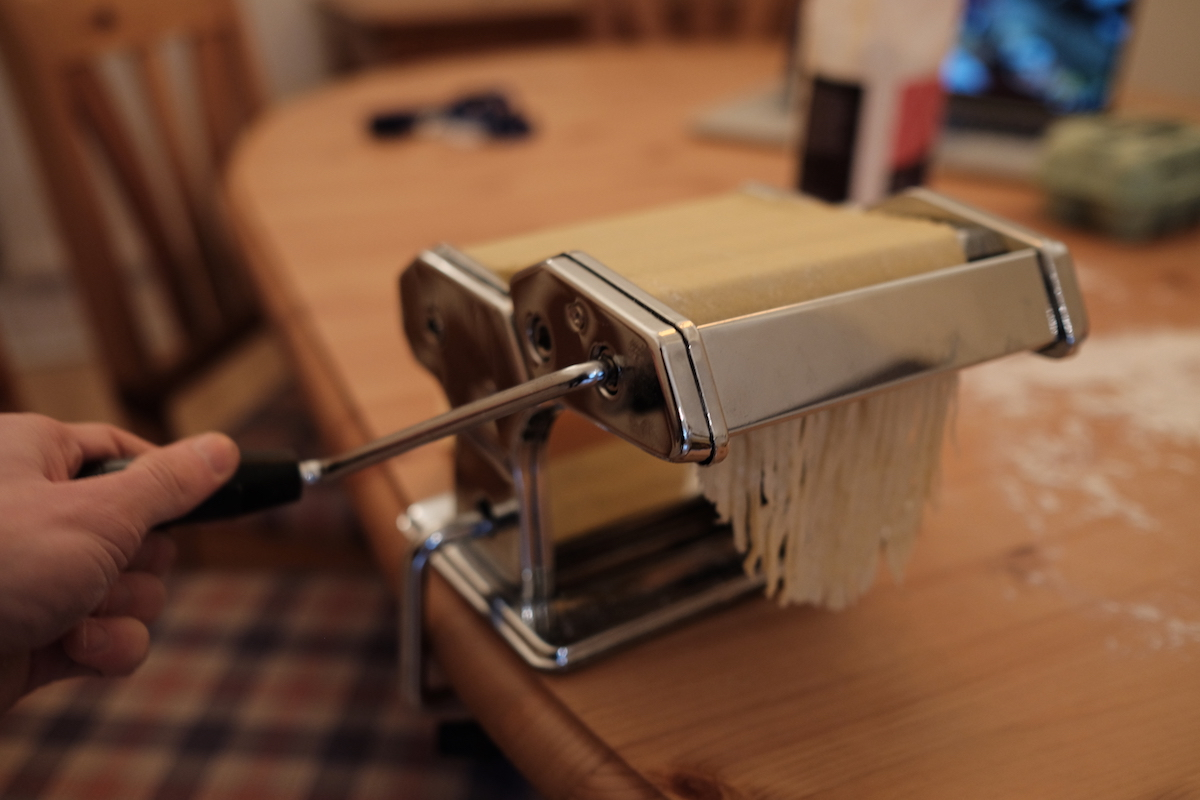 Pasta cut