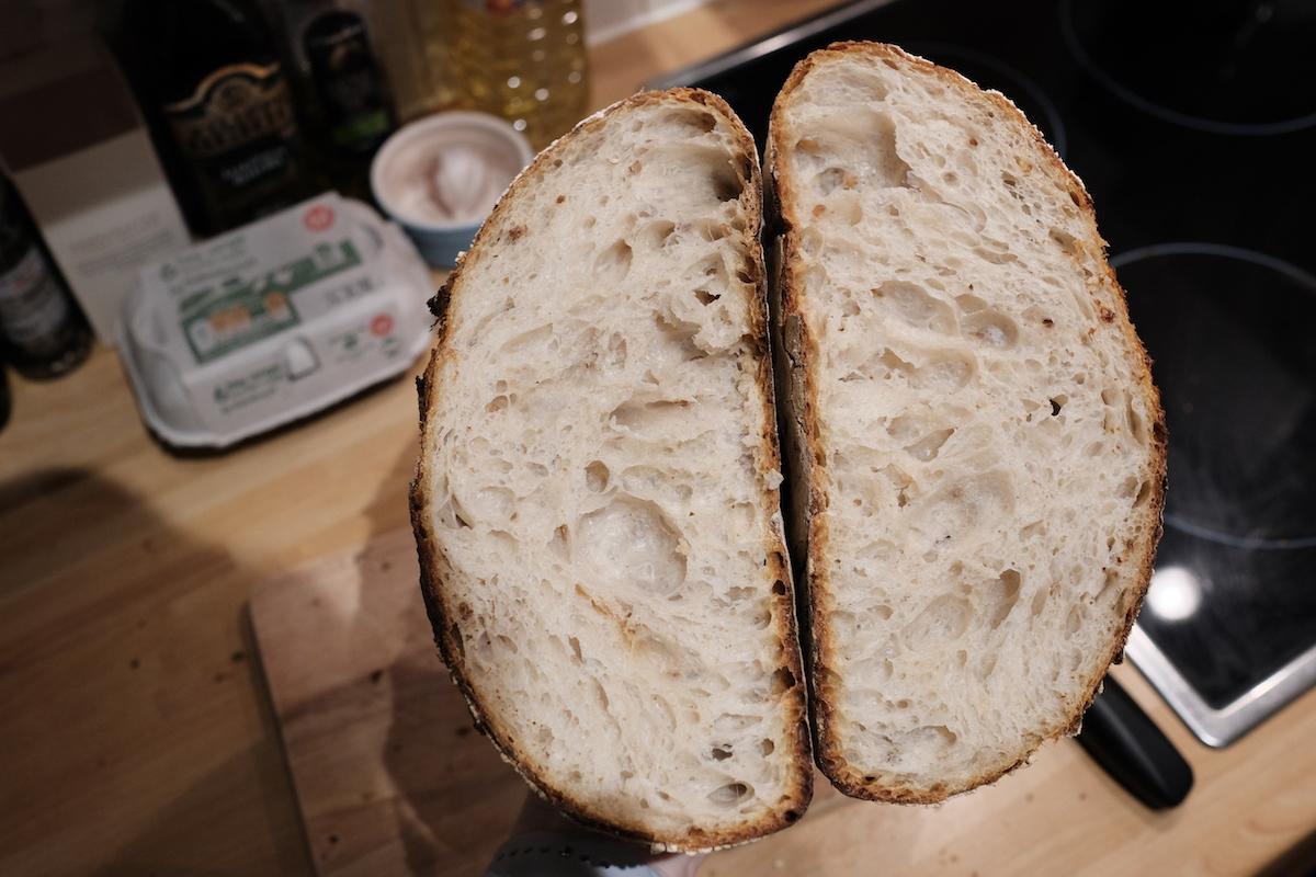 Sourdough crumb